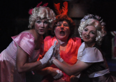 Matthew Iwanski, Gail Golden and Angie Shriner as Cinderella's Step Family