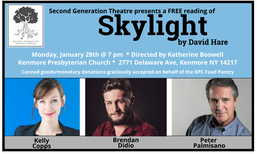 SGT Announces Free Reading of SKYLIGHT